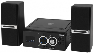 kompakt stereo hifi mini anlage mp3 cd player aux radio fm. Black Bedroom Furniture Sets. Home Design Ideas